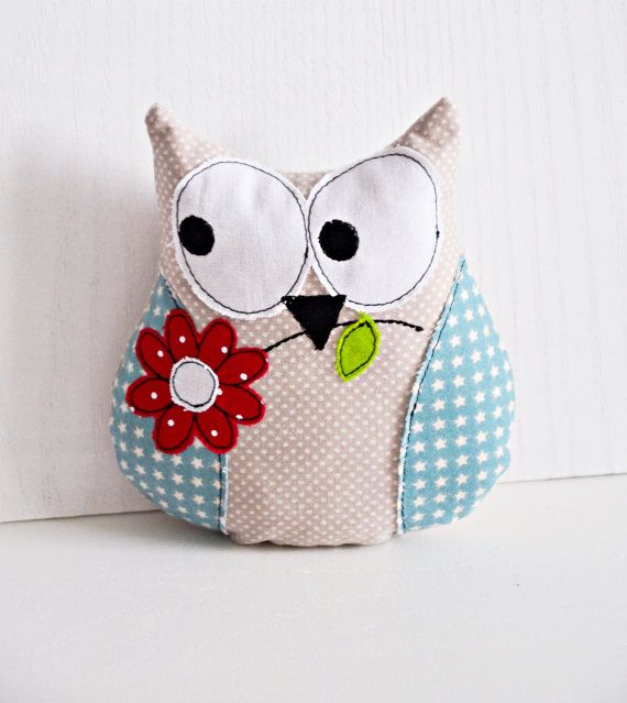 ITH Embroidery pattern owl with flower for 18 x 13 cm INSTANT DOWNLOAD