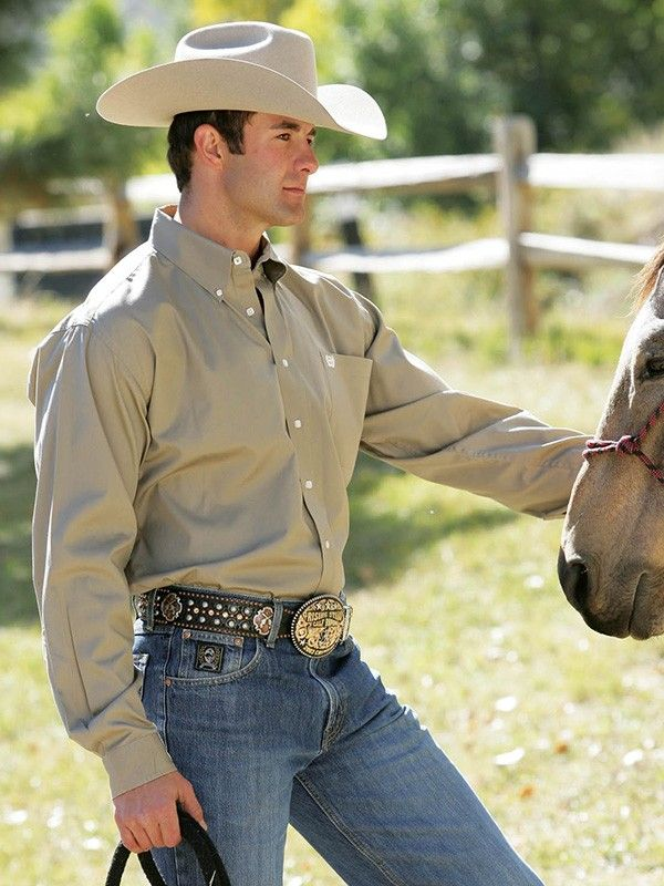 Mens Cinch Tan Shirt Mtw1103298 - Texas Boot Company is located in Bastrop, Texas. www.texasbootcompany.com