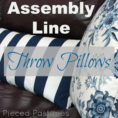 Pieced Pastimes: Assembly Line Throw Pillows