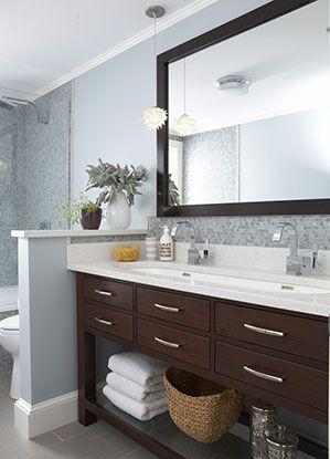 Master Bath | Pinterest | Half Walls, Walls And Trough Sink