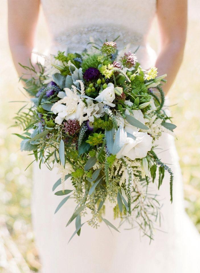 Bohemian Wedding Bouquet Rustic Natural