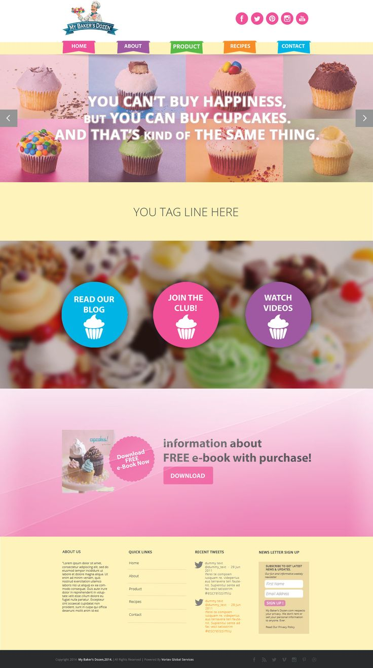 Mockup for a bakery