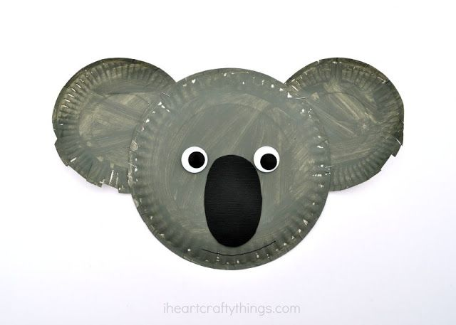 I HEART CRAFTY THINGS: Paper Plate Koala Kid Craft