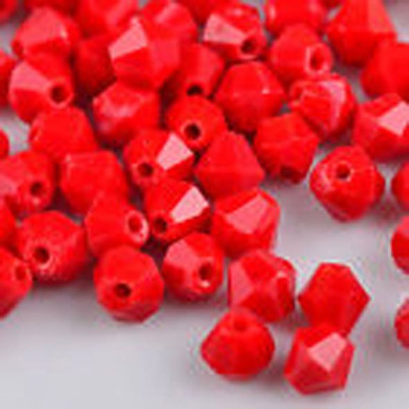50 pz bicono cristallo 4 mm