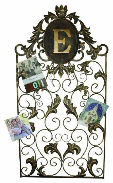 Daria Monogrammed Metal Hanging Holiday Card Holder
