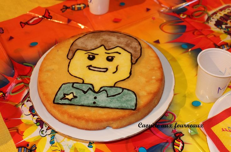 Gâteau Lego city en glaçage