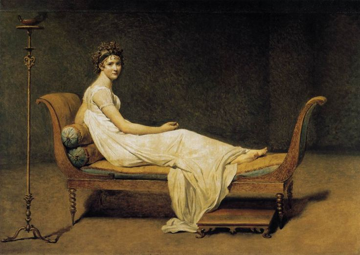 Jacques-Louis David, Madame Récamier, 1800, Oil on canvas, 173 x 244 cm, Musée du Louvre, Paris