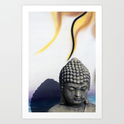 Buddha with flame Art Print by dAnielles flow - $24.00