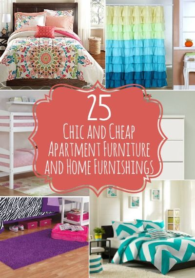 25 Chic and Cheap Apartment Furniture and Home Furnishings - Give your apartment style and sophistication that reflects who you are without breaking the bank. Check out these fabulous finds on the cheap.