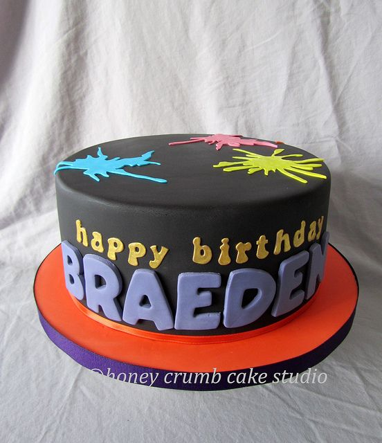 Teen Boy Cakes | Paintball Cake - Front | Flickr - Photo Sharing!