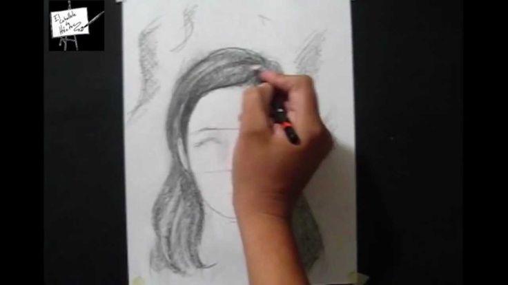 Principios para dibujar cabello - Tutorial de dibujo a lápiz - Curso de ...                                                                                                                                                     Más