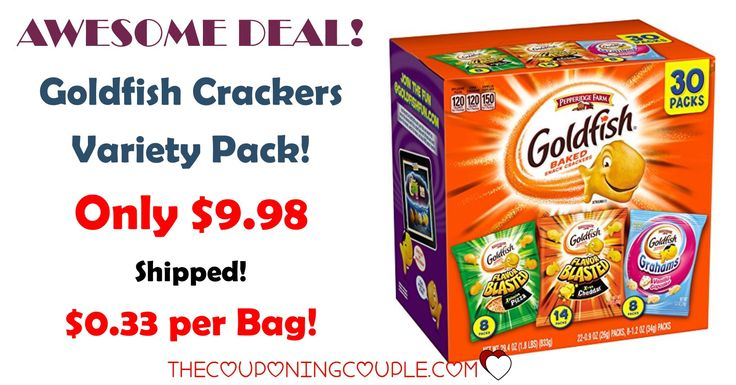 HOT BUY!! Get a Pepperidge Farm Goldfish Crackers Variety Pack 30 count for $0.33 per bag or less shipped! Stock up for lunches, snacks, on the go and more!  Click the link below to get all of the details ► http://www.thecouponingcouple.com/pepperidge-farm-goldfish-crackers-variety-pack-30-count-only-9-50-shipped/ #Coupons #Couponing #CouponCommunity  Visit us at http://www.thecouponingcouple.com for more great posts!
