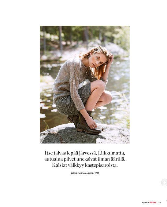 Pirkka Muoti Syyskuu 2014 Kuva: Eero Kokko Photography  Tyyli, meikki, hiukset ja teksti: Ida Jokikunnas AD: Anne Ala-Jokimäki