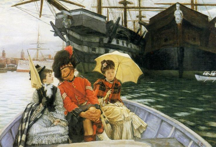 Portsmouth Dockyard (or, 'How Happy I Could Be with Either') (1877) James Jacques Joseph Tissot