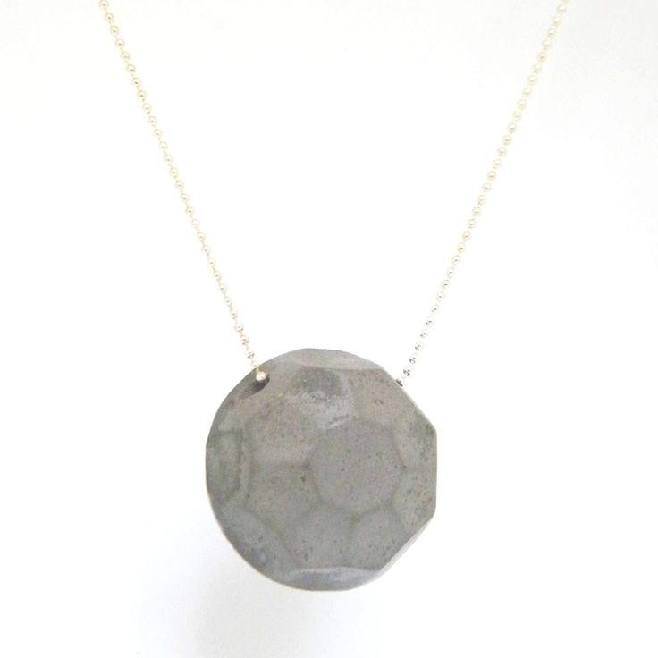 Concrete Gem Necklace, by BAARA Jewelry, Urban Chic, Urban Girl, Statement Jewelry, Cement and Silver Necklace, Geometric Necklace, Industrial Jewelry, Minimal Neckpiece