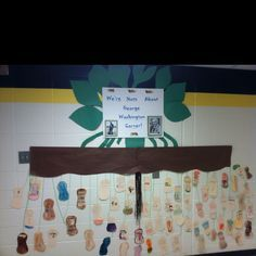 We're Nuts about George Washington Carver- students wrote facts about him and drew pictures with labels of uses he invented for peanuts.