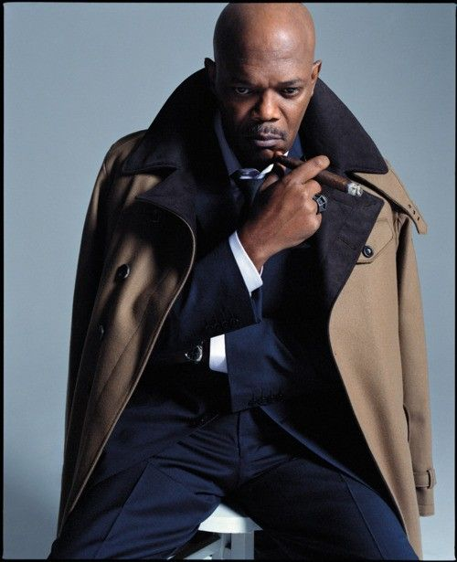 Samuel L  Jackson / damn / dapper / sauve / inspiration for autumn/winter over coat (yes i am thinking about it already!)