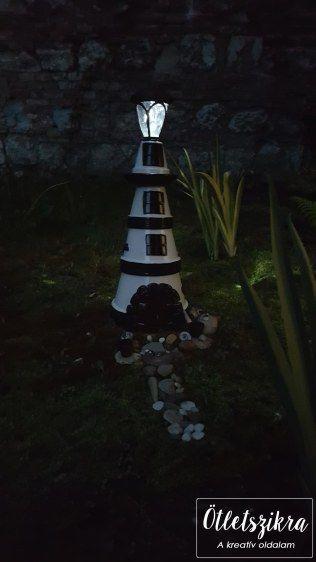Clay pot lighthouse  Világítótorony cserépből