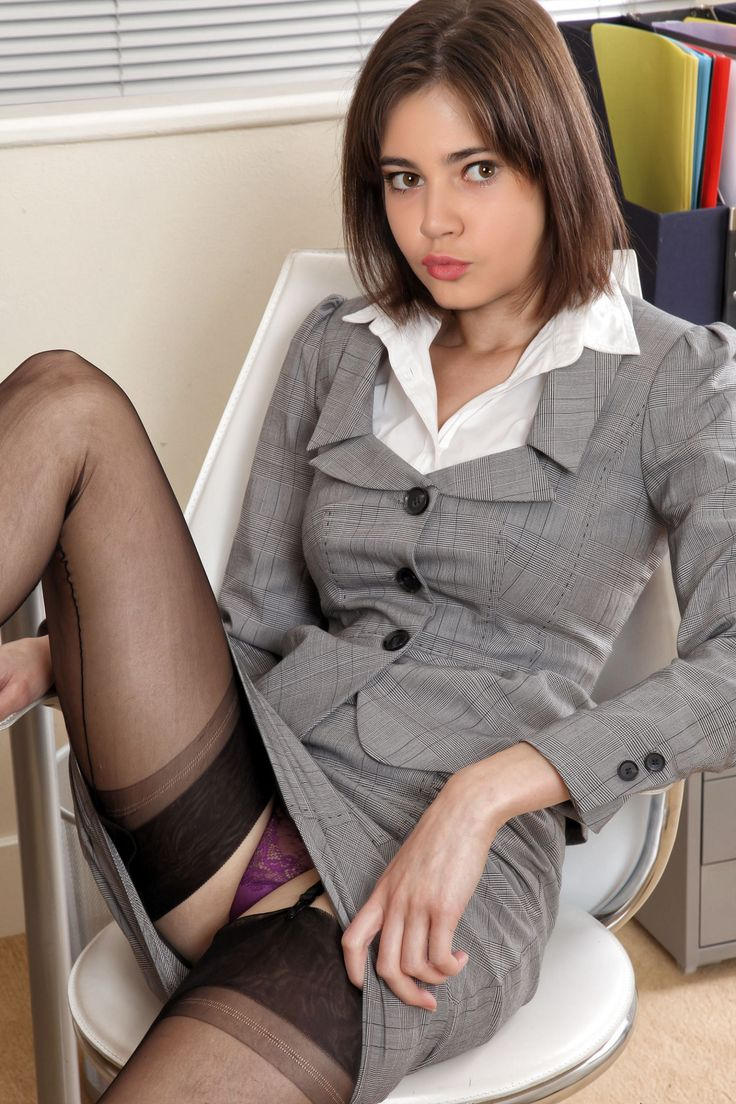 Asian secretary in nylons jumped from behind 1