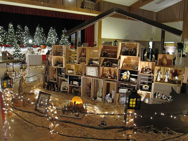 Lds Christmas Party Ideas Part - 20: Under My Umbrella: Festival Of Nativities. Would Love To Do Something Like  This For Our Ward Christmas Activity.