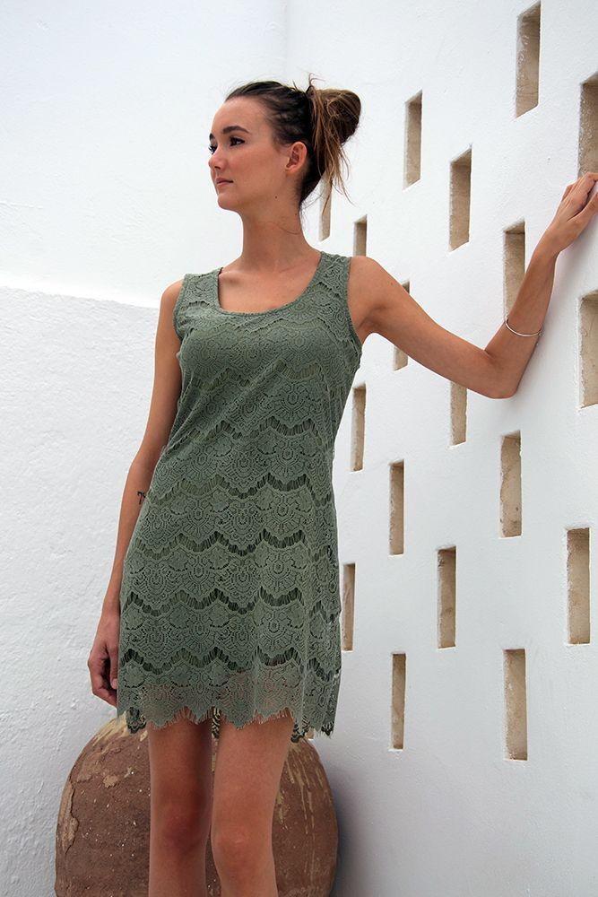 Kaki Lace Dress