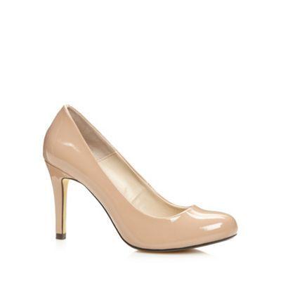 J by Jasper Conran Designer natural patent crosshatch court shoes- at Debenhams.com