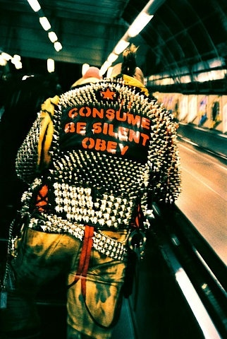 PUNK !!!                                          CONSUME  BE SILENT   OBEY