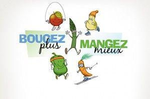Illustration - Campagne «Bougez plus, mangez mieux»