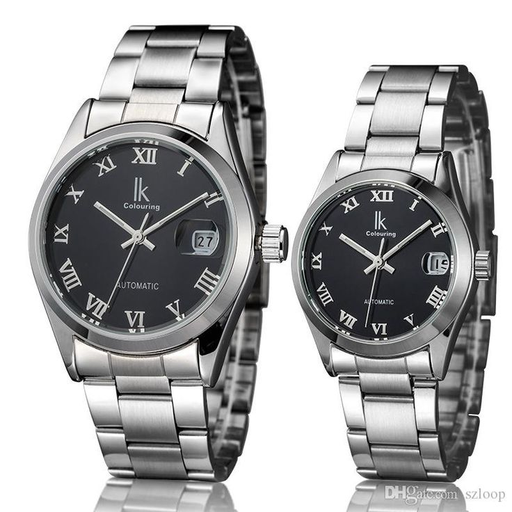 High end buy online watches to show your good taste, buy watches buy online for men and buying watches online for women from szloop, check out the new ikcolouring lovers automatic mechanical watch roman design women men steel strap calendar self wind casual fashion wrist watches 1506008!