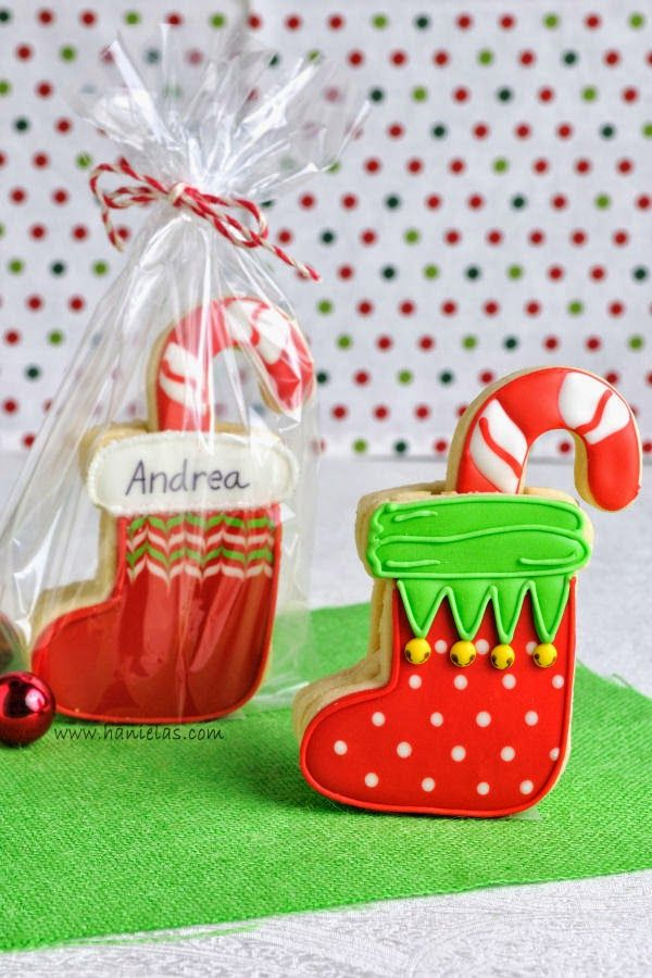Haniela's: 3D Christmas Stocking Cookies + video