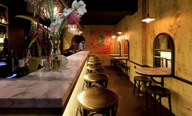 Tucked behind Red Lantern on Riley, Red Lily is reminiscent of a backroom drinking parlour
