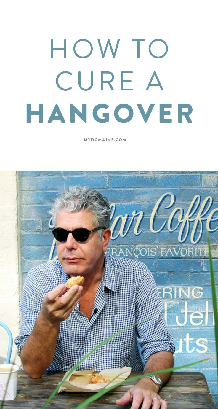 Anthony Bourdain knows how to cure a hangover