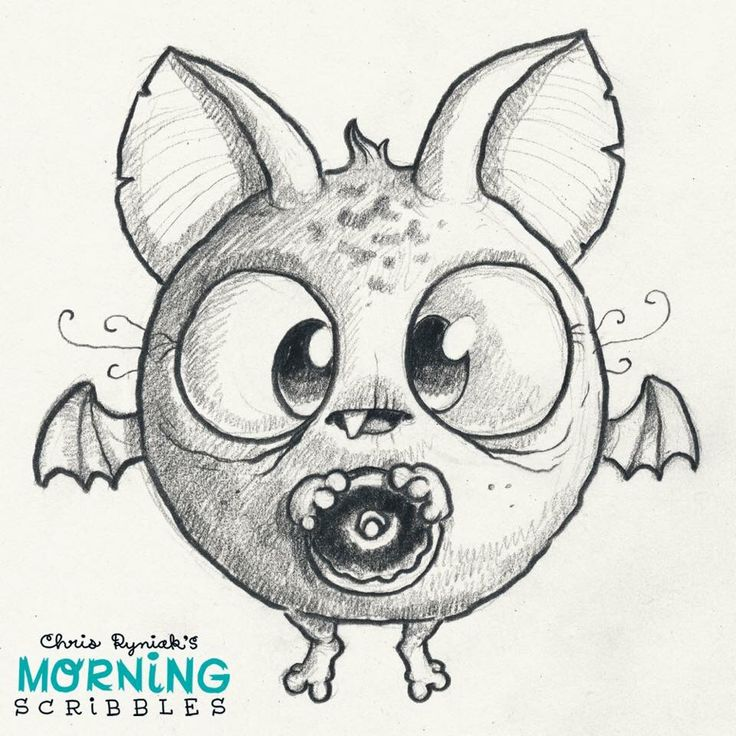 Artist Chris Ryniak - morning scribbles - cute monster art