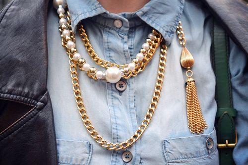 Pearls n' gold.