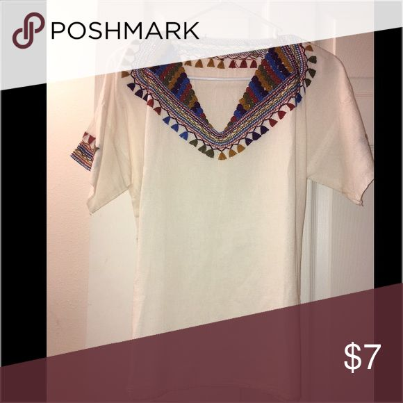 Homemade Bohemian Tee This homemade t-shirt is in great condition, no staining or anything! Tops Tees - Short Sleeve