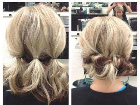 Einfach Zu Machen Hochsteckfrisuren Neu Haar Schnitte Cheveux Courts Coiffure Chignon Cheveux Court