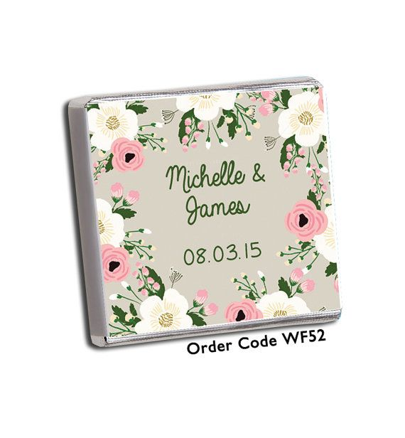This listing is for 100 personalised chocolate wedding favours. You will receive the favours completely assembled and ready for your guests.