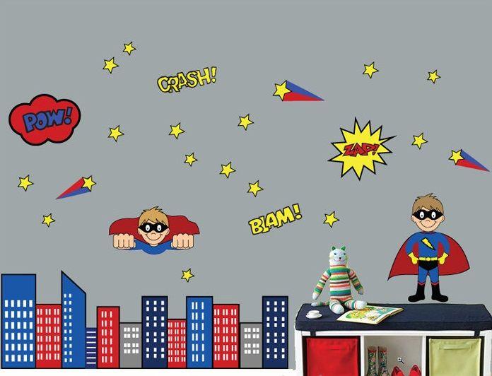 Best Nerdseries Images On Pinterest Star Wars Nursery Star - Superhero wall decalssuper hero wall art etsy