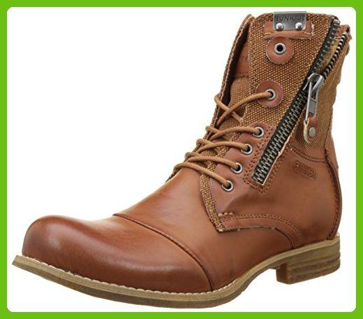 Bunker Men's Por Biker Boots brown Size: 7 UK