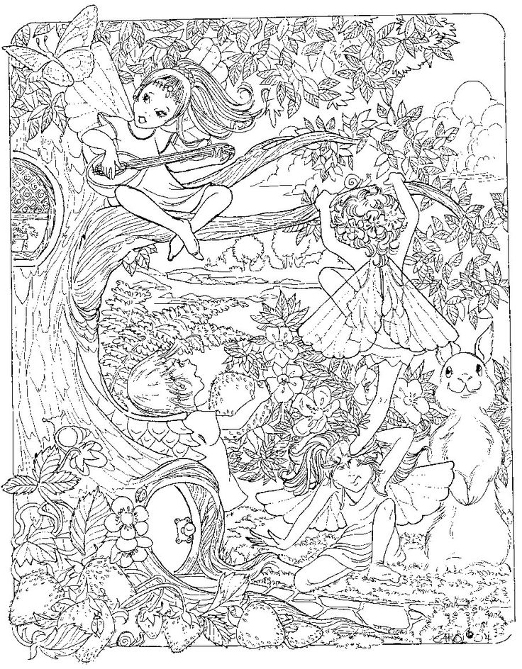 detailed coloring pages of fairies patterns coloring pagesprintcolouring