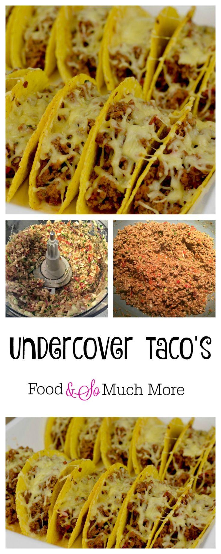 Heerlijke undercover Taco's boordevol groente waar je kids dol op zullen zijn. En jij zelf ook! Recept van foodensomuchmore.nl