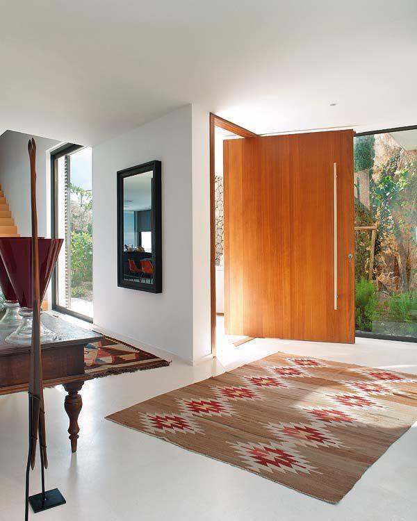 Una espectacular casa en Formentor.recibidor,hall.