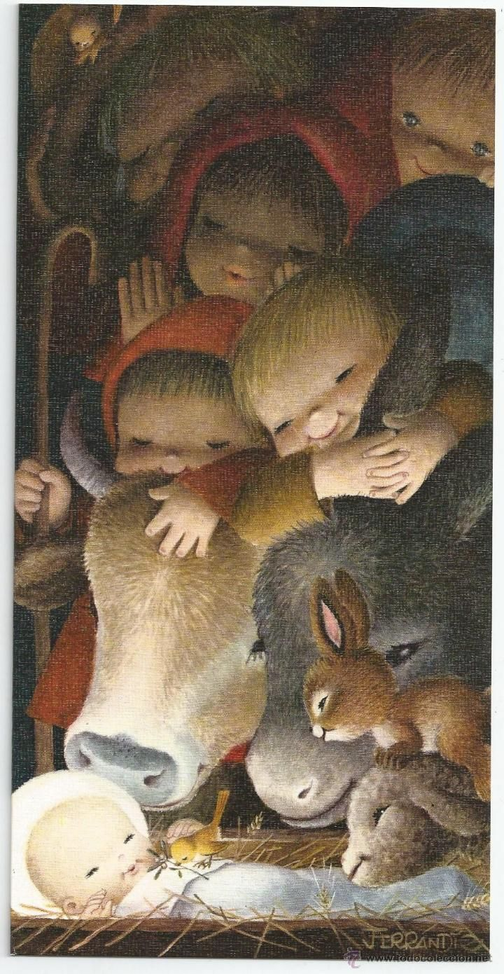 Weihnachtskarten FERRÁNDIZ * * - SUBI E 1663-2 - Diptychon 22,5 X 11,5 CM - 1967 - Foto 1