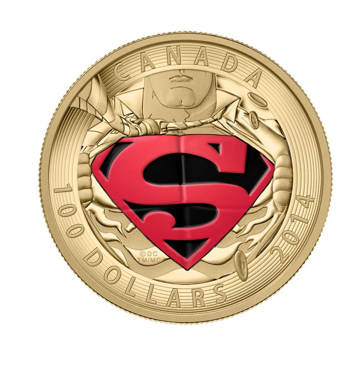 2014 14-Karat Gold Coin - Iconic Superman™ Comic Book Covers: The Adventures of Superman #596 from 2001. A finely-detailed recreation of the cover of The Adventures of Superman #596, showcasing the iconic S-shield emblem that is synonymous with Superman.