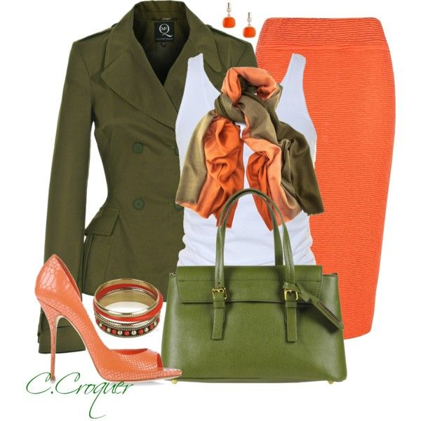 """Green Bag"" by ccroquer on Polyvore"