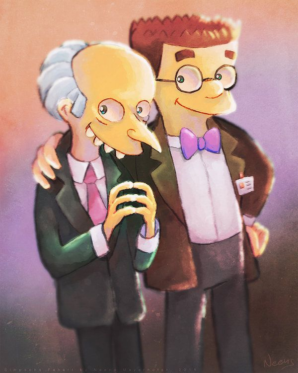 Mr. Burns and Smithers // Simpsons