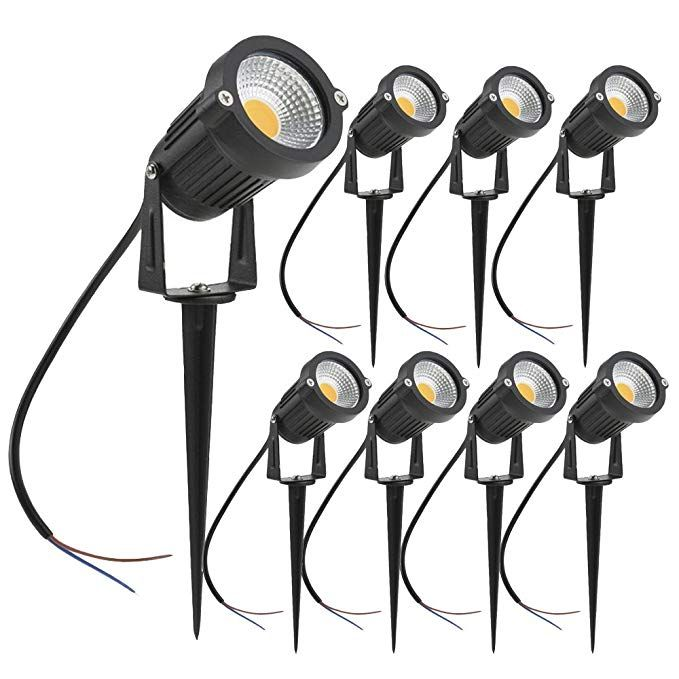 Zuckeo 5w Led Landscape Lights 12v 24v Garden Lights Waterproof Warm White Walls Trees Flags Outdoor Spotlights With Spike Stand 8 Pack Review Garden Path Lighting Led Outdoor Lighting Led Landscape Lighting