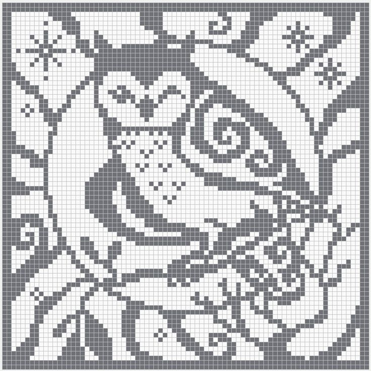 Best 25 filet crochet charts ideas on pinterest filet crochet filet crochet charts owl square chart for cross stitch crochet colour ccuart Images