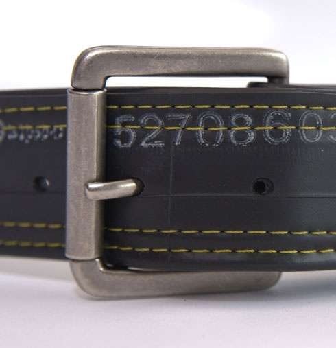 Recycled belt from bicycle inner tubes