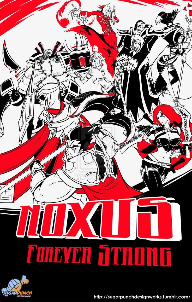 Valoran War Posters: Noxus v.2013 by a-bad-idea.deviantart.com on @DeviantArt
